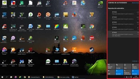 imagenes de windows 10 y sus partes c 243 mo usar y configurar el centro de actividades de windows