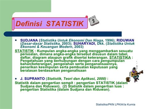 Statistika Untuk Ekonomi Keuangan Dan Modern statistika presentasi untuk mahasiswa pkn lpkia