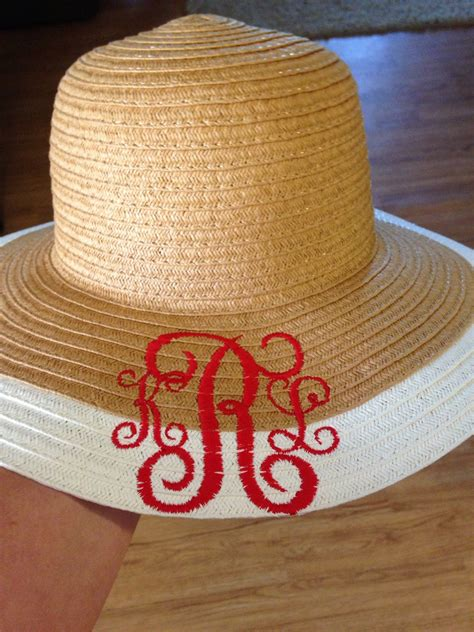 Adorable Floppy Hats by Monogrammed Sun Hat Floppy Hat Embroidered Initials