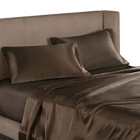 satin bed sheets mainstays satin sheet set walmart com