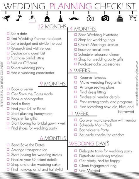 printable detailed wedding planning checklist printable wedding planning checklist