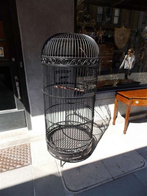 american wrought bird cage with perch circa 1870 for