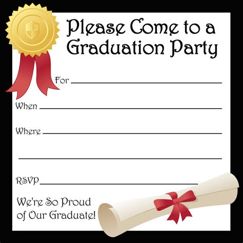 Graduation Party Invitations Templates Car Interior Design Free Printable Graduation Invitation Templates