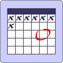 Calendar Clip Calendar With Note Clip Free Vector In Open Office