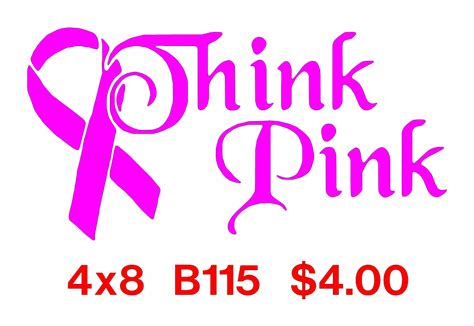Think And Think Pink by Breast Cancer Decals