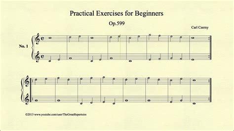 Buku Piano Czerny Op 599 czerny practical exercises for beginners op 599 no 1