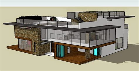Import Floor Plan To Sketchup Modern House Plans Sketchup Sketchup House Plan