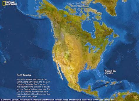 Atlas Global Besar gambaran atlas dunia jika semua es di bumi mencair