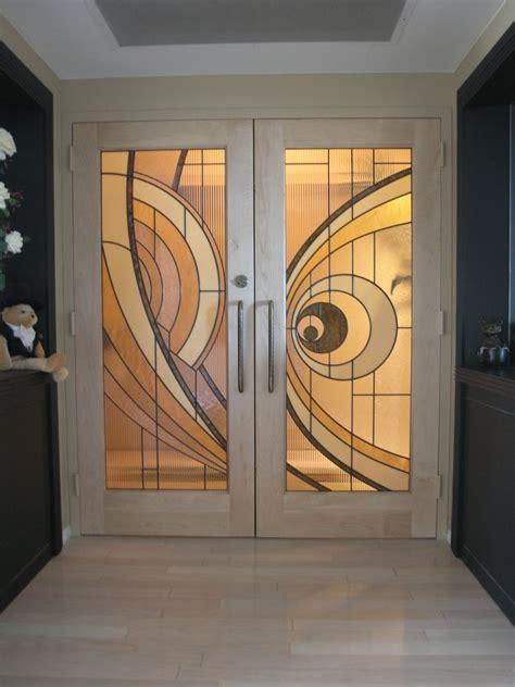 Hand Crafted Custom Made Hard Maple Doors With Custom Made Glass Doors