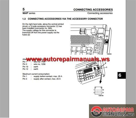daf 95 xf electrical wiring diagram auto repair manual