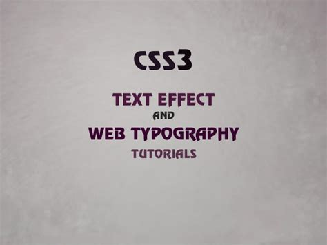 css3 typography css3 text effect and typography tutorials