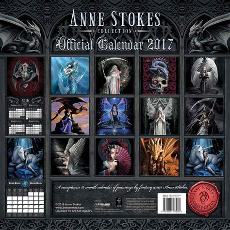anne stokes calendar 2018 anne stokes official 2017 quot the realms quot 16 month wall calendar lee s dragon dreams