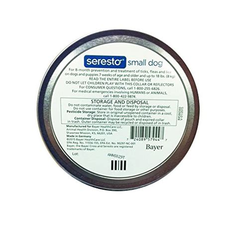 seresto small bayer seresto flea and tick collar for small up to 18 lb 8 month protection