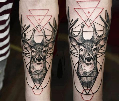 tattoo old school dotwork 60 deer tattoos ideas and meanings