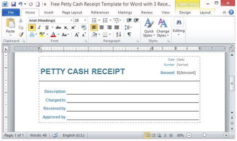 petty cash receipt template  word   receipts