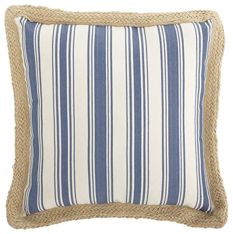 Decorative Trim For Pillows by Jute Trim Woven Serge Stripe Pillow Blue Style