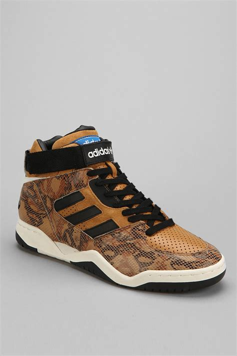 outfitters adidas enforcer midtop snake sneaker in brown for lyst