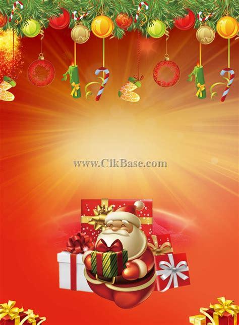 printable santa poster cartoon santa claus christmas poster background design set