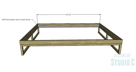 Rustic Bed Frame Plans Diy Plans To Build A Modern Rustic Platform Bed