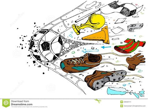 soccer doodle soccer doodle stock image image 23940111