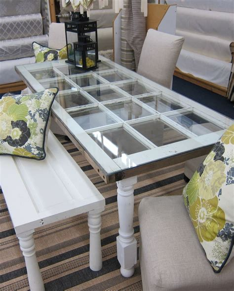 desk made from door made from an old french door bench made from a