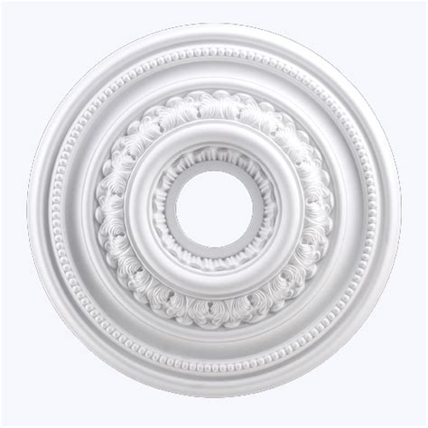 small english study ceiling medallion in white