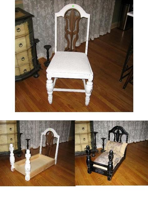 armchair dog beds victorian style pet bed diy using chairs