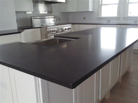 Interior Beauty Of Honed Granite Countertop With White