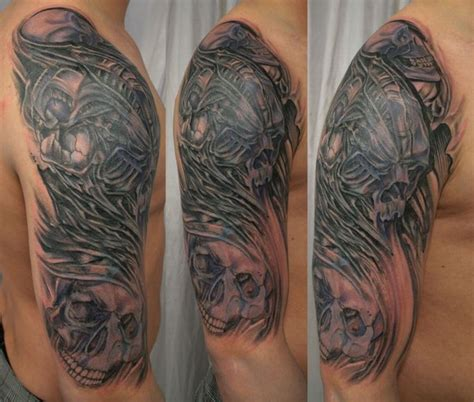 tribal cover up tattoos cover up tribal skull bio by 2face on deviantart