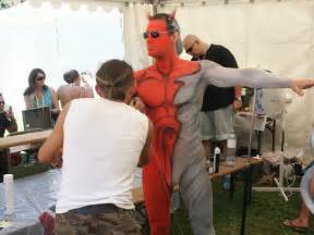 Body painting has also become popular with festival and pride goers