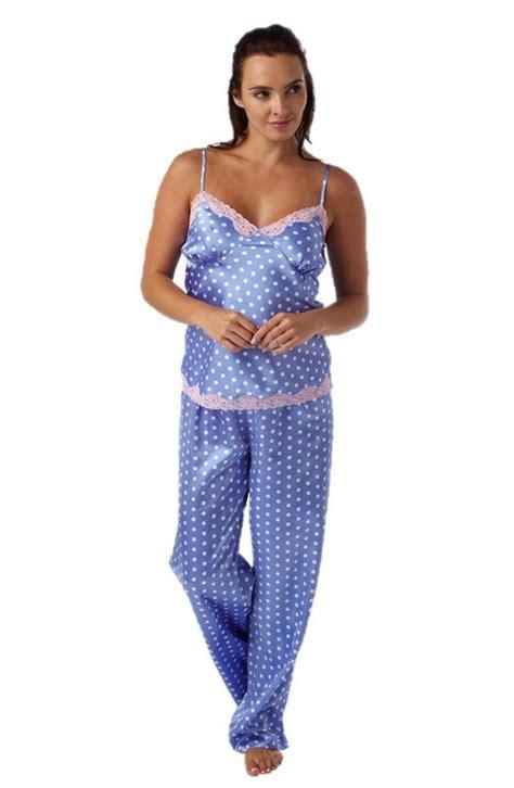 Maroon List White Sateen Pajamas womens satin pj set pyjamas pajama nightwear sleep