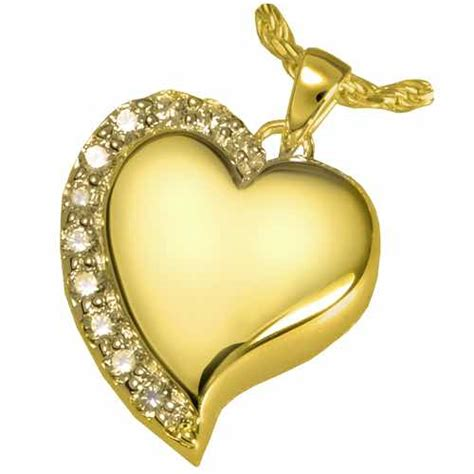 14k gold plated shine pendant for pet cremation ashes