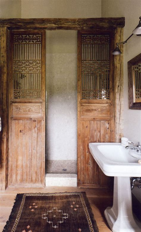 wooden bathroom doors pin by plum pretty sugar on bath rooms pinterest