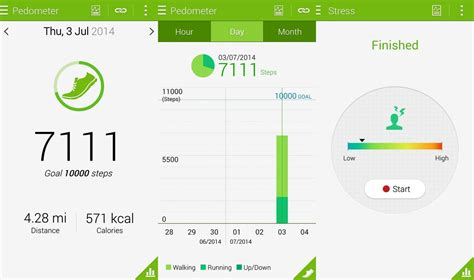 health app for android using the s health app on the samsung galaxy s5 android central