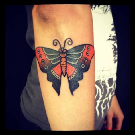 tattoo butterfly old school arm old school butterfly tattoo by world s end tattoo