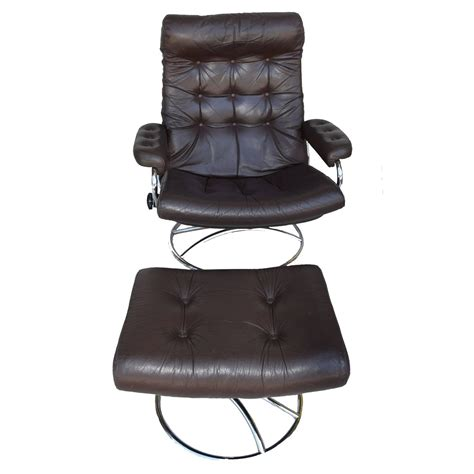 Ekornes Recliner Sale by Ekornes Stressless Chair And Ottoman 1972 For Sale At 1stdibs