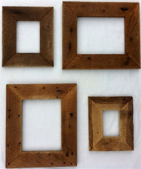 woodworking picture frames reclaimed rustic barn wood picture frame by 3