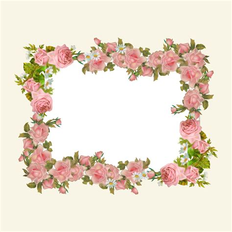 printable paper photo frames free printable vintage rose border papers frame png