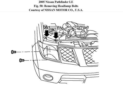 replace headlight assembly    pathfinder