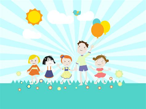 Childrens Playground PPT Backgrounds   Cartoon, Games