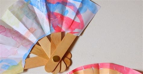 How To Make A Fan Out Of Paper - make a folding popsicle stick fan pink stripey socks