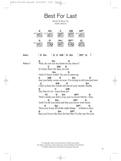 adele promise this notes one and only you lyrics and chords adele