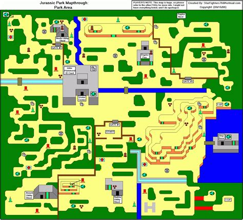 jurassic park map jurassic park park area map gif starfighters76 neoseeker walkthroughs