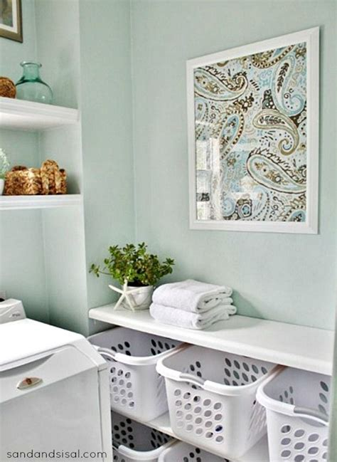 laundry design fabric 5 ways to fill a blank wall laundry room shelving