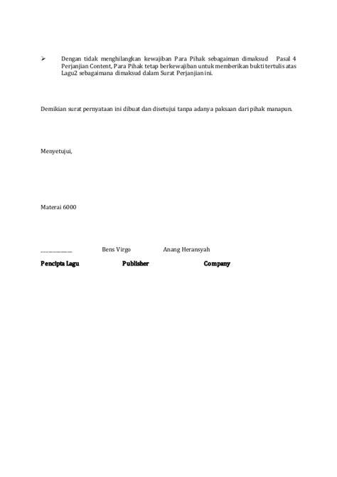 78 contoh surat perjanjian gadai sepeda motor lengkap