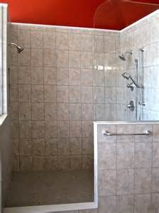 open shower reminiscent of a spa bathroom design photo