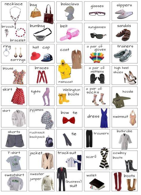 imagenes en ingles y español para facebook resultado de imagen para vocabulario en ingles ropa y