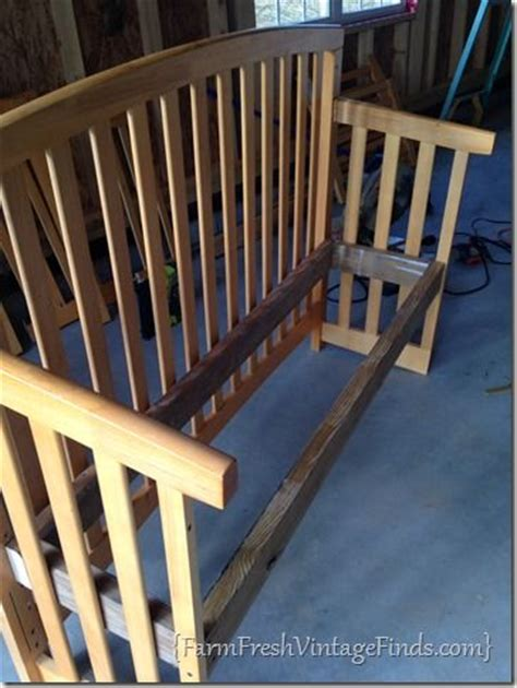 how to convert a crib into a bench farm fresh vintage
