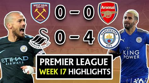 epl week 17 premier league week 17 highlights review swansea 0 4