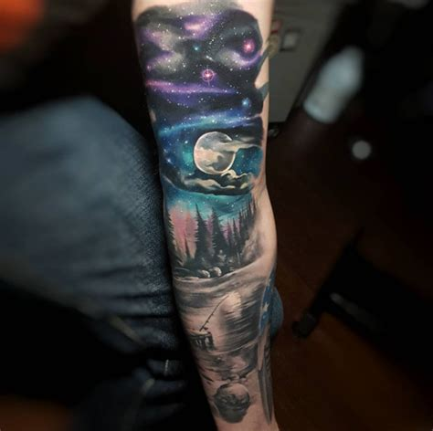 starry night tattoo 36 sleeve tattoos for guys with style tattooblend